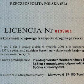 Licencja Nr 0133604