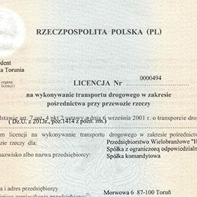 Licencja Nr 0000494